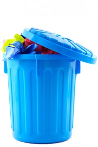 trash can / rubbish bin