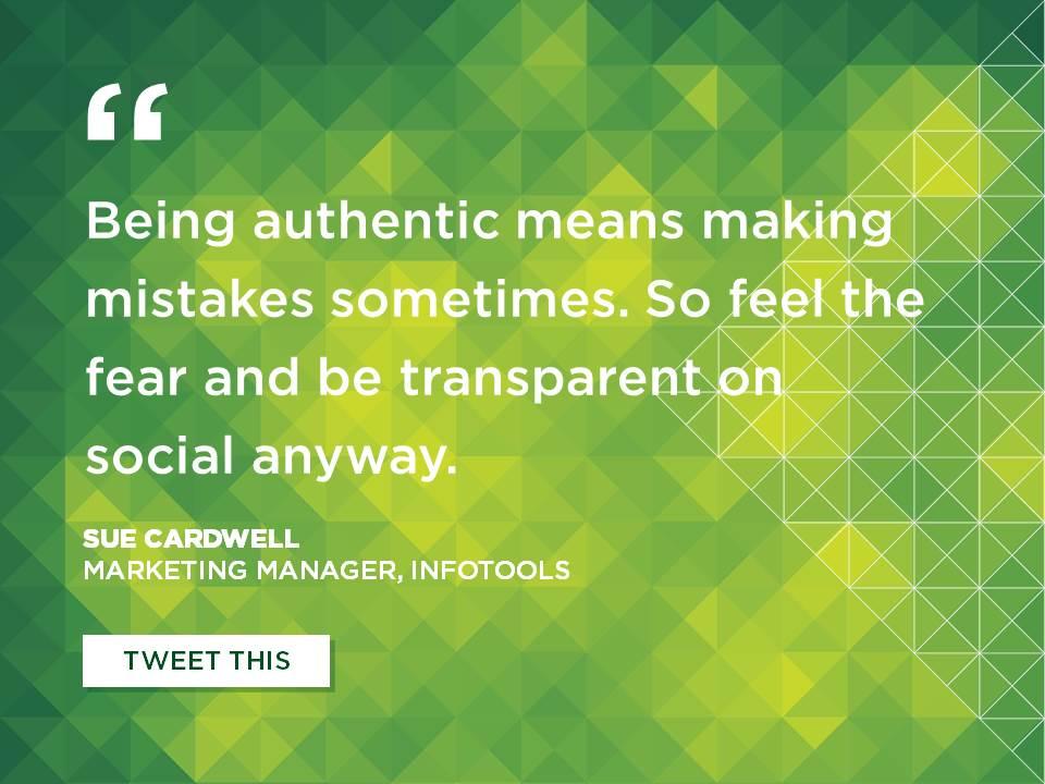 2014-09-Infotools-Sue-Cardwell-Be-transparent