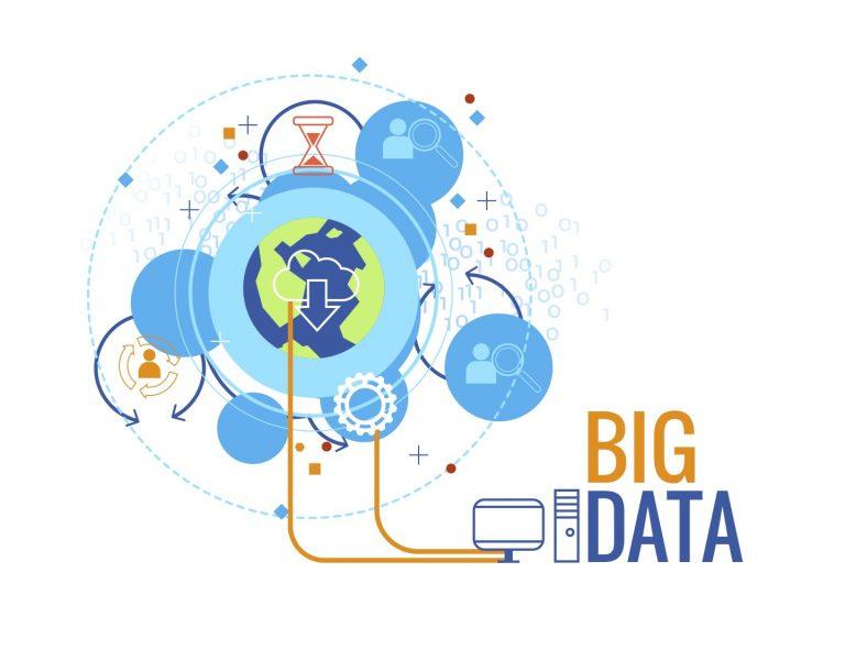 A graphic representing big data