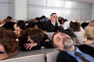 People falling asleep in a presentation
