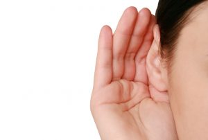 Picture of somebody listening