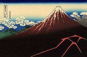 Hokusai's 'Rainstorm Beneath the Summit'