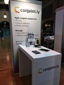 Conjoint.ly stand at ESOMAR Congress 2017