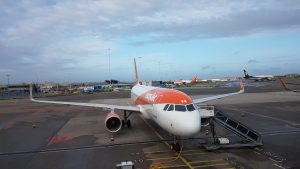 An Easy Jet flight from Luton