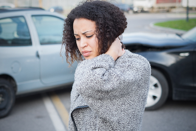 Woman and Car Crash