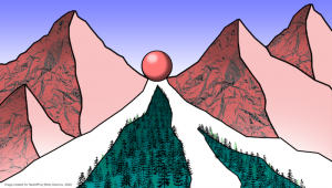 Ball rolling down a mountain