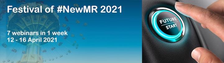 Banner advertising the Festival of NewMR 12-16 April 2021