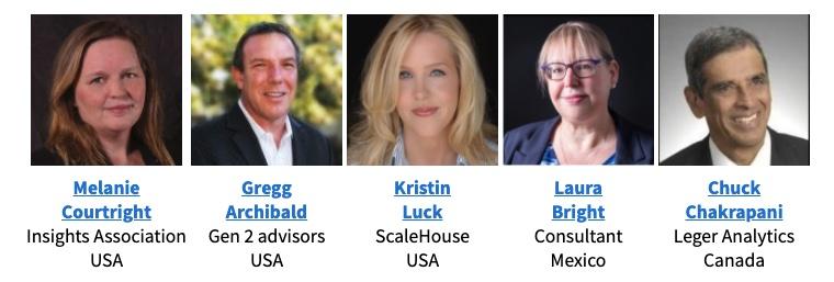 FF speakers Melanie Courtright, Gregg Archibald, Kristin Luck, Laura Bright, Chuck Chakrapani