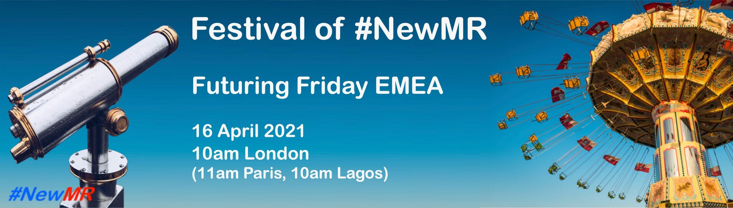 Banner for Futuring Friday EMEA Webinar 2021