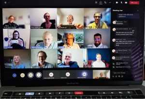 Photo of Council Members from the Microsoft Teams Meeting