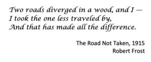 The road less traveled - Robert Frost